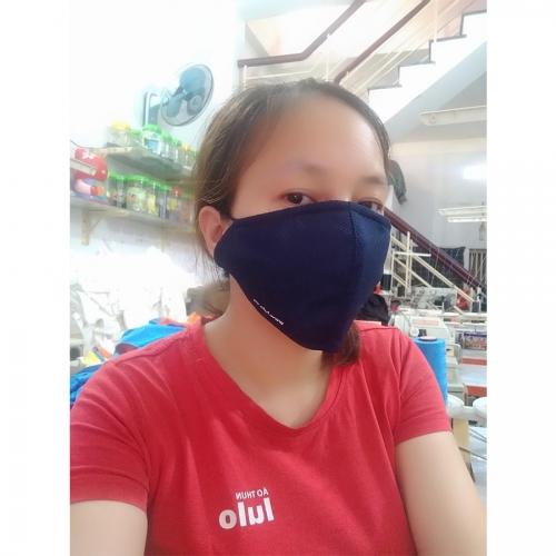 Combo 5 pcs Antibacterial fabric face mask - Navy blue