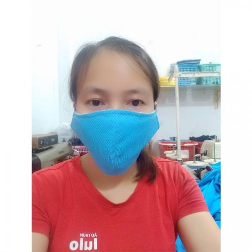 Combo 5 pcs Antibacterial fabric face mask - Yamaha blue