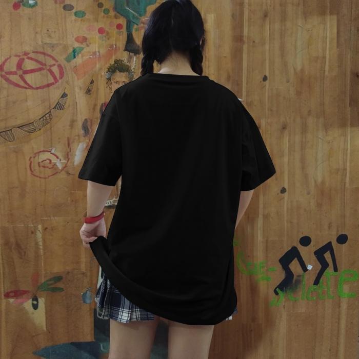 Áo thun đen unisex lulo 100% cotton dày, form rộng, oversize, mịn và đẹp - 3