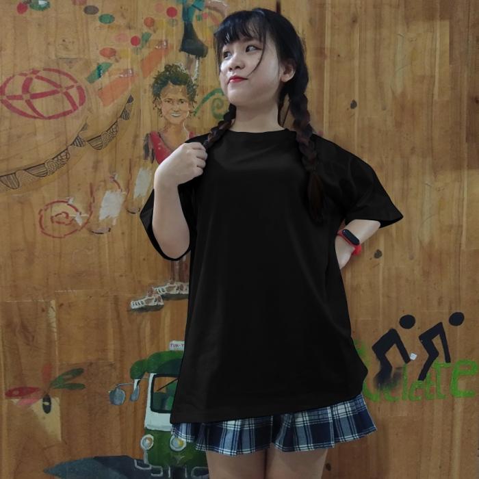 Áo thun đen unisex lulo 100% cotton dày, form rộng, oversize, mịn và đẹp - 2