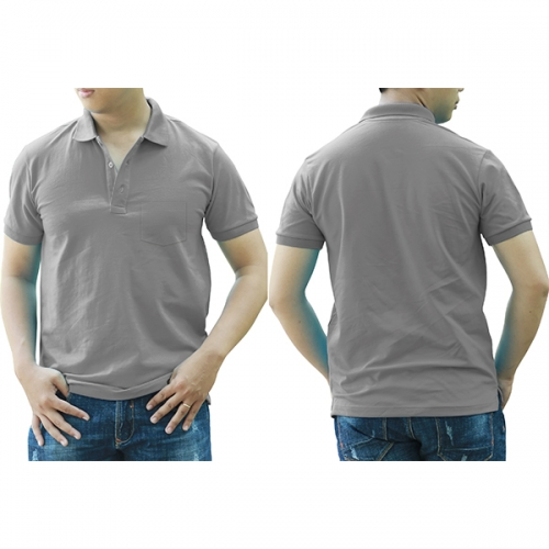 Polo shirt with pocket - Beige