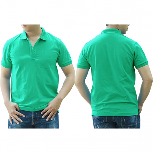 Polo shirt with pocket - Turquoise