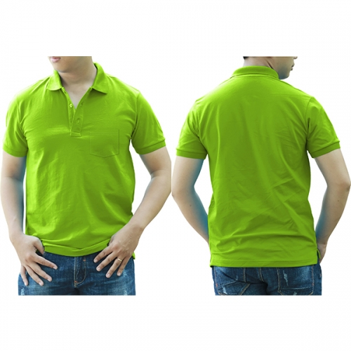 Polo shirt with pocket - Green
