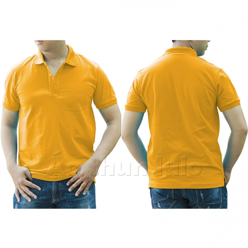 Polo shirt with pocket - Dark yellow