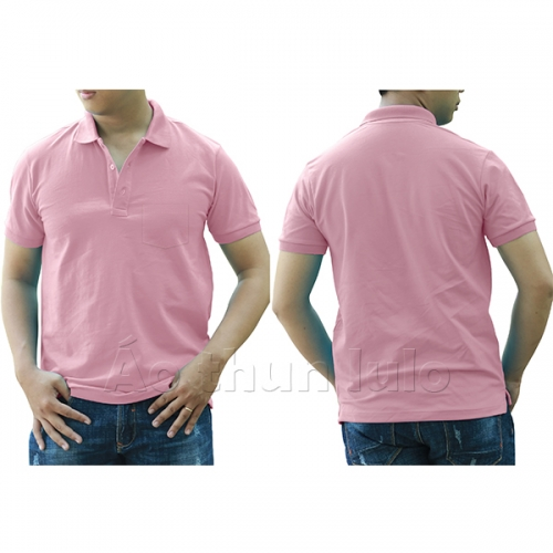 Polo shirt with pocket - Pink
