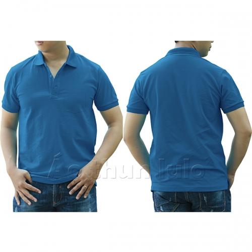 Áo thun cổ trụ có túi - Màu xanh yamaha
