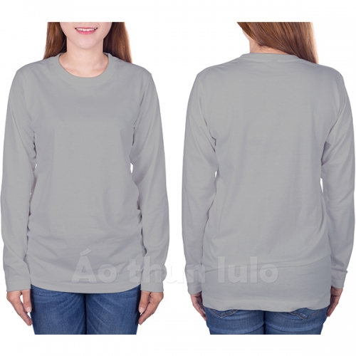 T-shirt with long sleeves - Grey melange
