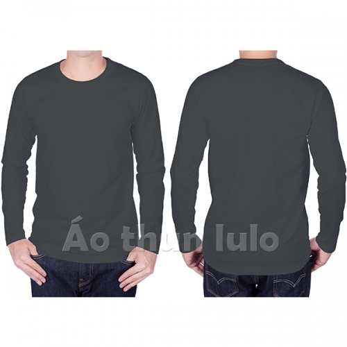 T-shirt with long sleeves - Dark grey