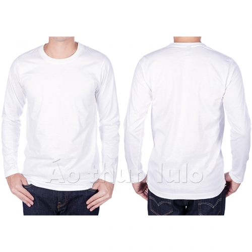 T-shirt with long sleeves - White
