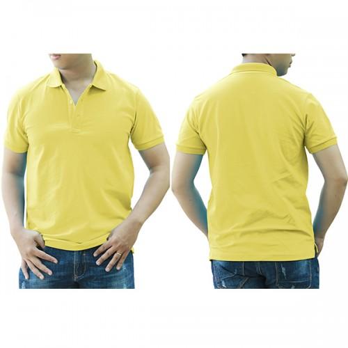 Áo thun cổ trụ - Màu vàng nhạt