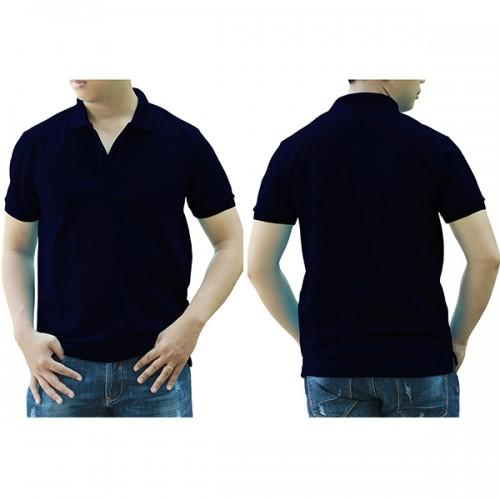 Áo thun cổ trụ - Màu xanh navi/xanh đen
