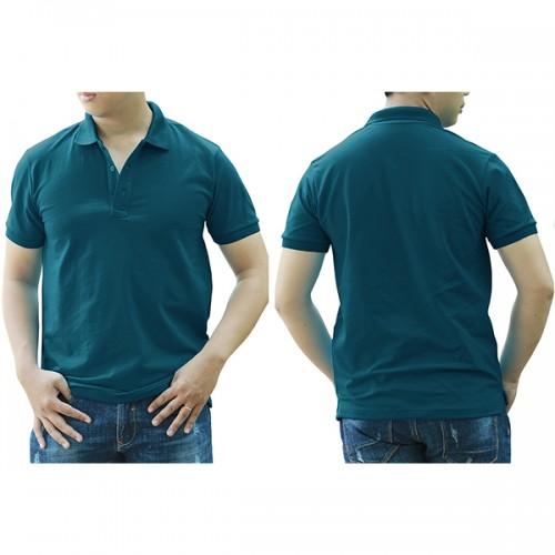 Áo thun cổ trụ - Màu xanh cổ vịt