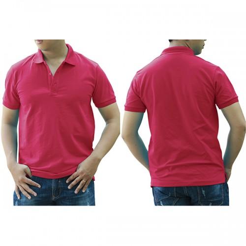 Áo thun cổ trụ - Màu hồng sen
