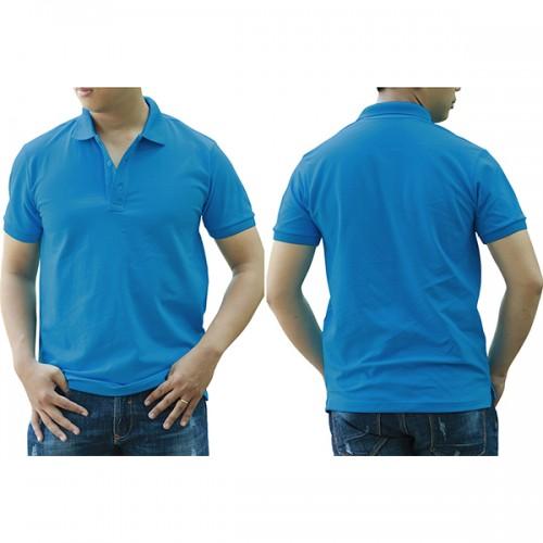 Áo thun cổ trụ - Màu xanh air