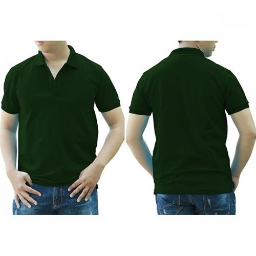 Áo thun cổ trụ - Màu xanh rêu/xanh ve chai