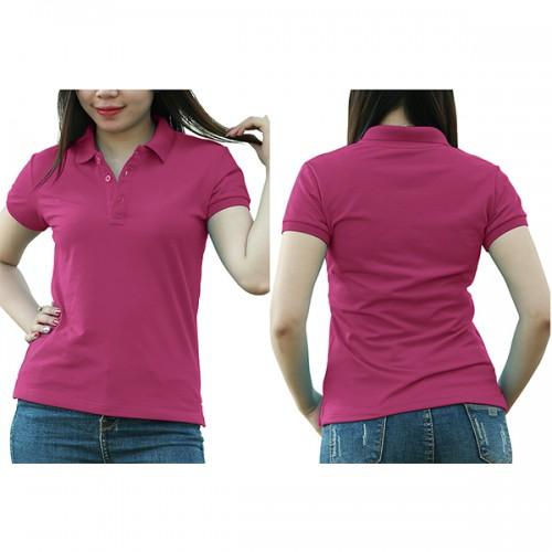 Áo thun cổ trụ - Màu hồng đào