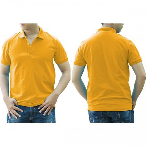 Áo thun cổ trụ - Màu vàng đậm/vàng nghệ