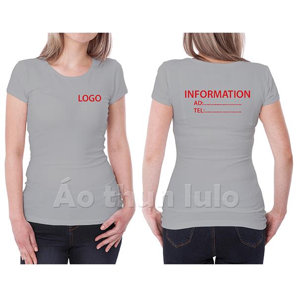 In/thêu logo và hàng ngang sau lưng