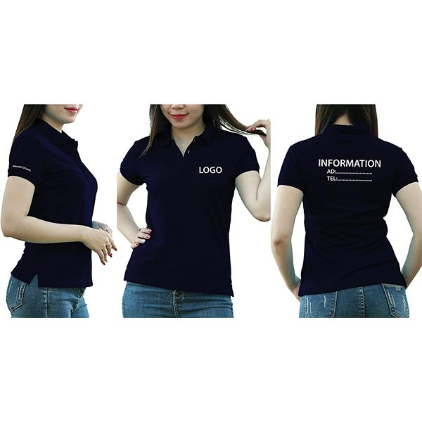 In/thêu logo, hàng ngang sau lưng và tay áo