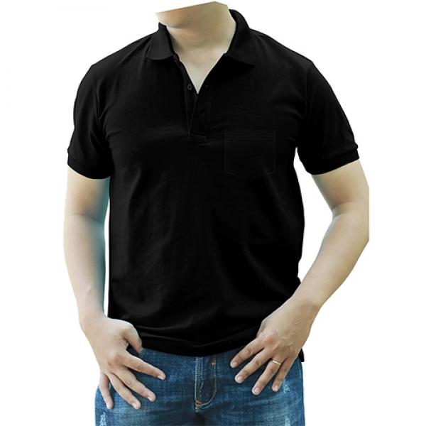 Áo thun cổ trụ, màu đen có túi xuất Amazon Mỹ