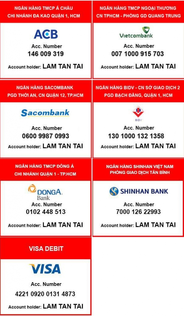 Thông tin ngân hàng
